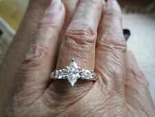 Jared 18K WG European Shank Marquise Diamond Engagement Ring $3945