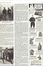 Vintage 1939 Hunting Clothes advertising page