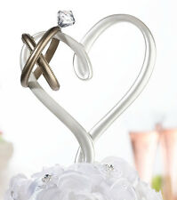 Heart with Rings Cake Pick wedding cake top cake topper