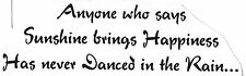 Unmounted Rubber Stamps, Dance Quotes & Sayings, Happiness, Dancing in the Rain