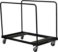 Round Folding Table Cart Dolly 8-10 Table Capacity