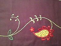 NEW Linden Street Purple Floral Paisley Valance 60in by 18in