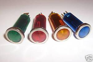 Warning  Lights Lamp Oil  Car Dash  Indicator  Lights  X  4  Bezel 12v Classic