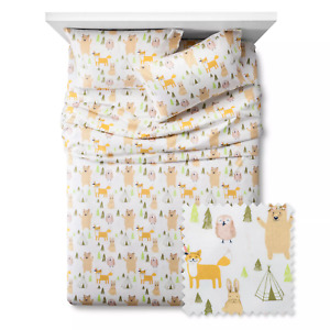 Pillowfort Woodland Whimsy Forest Animals Sheet Set - 3 Pieces Size Twin