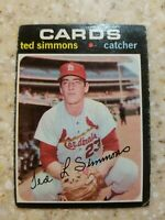 1971 Topps Ted Simmons RC HOF St Louis Cardinals #117