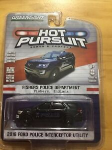 Greenlight Hot Pursuit Ford Police Interceptor Fishers Police Department  1:64