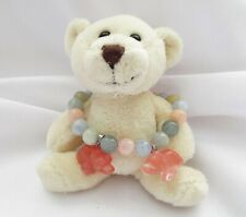 Morganite A Grade Gemstone Stretch Bracelet Cherry Quartz Bear Charms