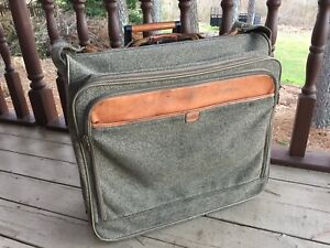 Hartmann Overnight Rolling Carry-On Bag Luggage Leather