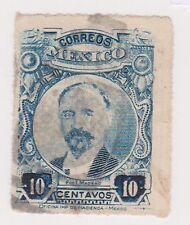 (MCO-141) 1917 Mexico 10c blue MADERO (B)