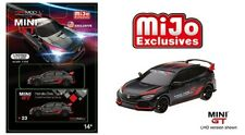 Mini GT 1/64 2017 Honda Civic Type R (FK8) Customer Racing study Black MGT00023