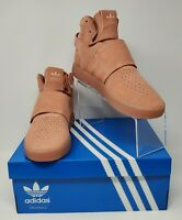 ADIDAS Originals TUBULAR Invader Strap Raw Pink Size 10.5 CG5070 New With Box