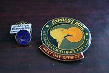 2 pc. Post Office Express Mail Enameled Pin Set Superior Accomplishment Award