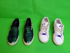 Niñas Zapatos 2 Pares Nike & Kurt Geiger Talla 3 Reino Unido