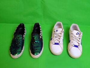 Girls Shoes 2 Pairs Nike & Kurt Geiger size 3 UK