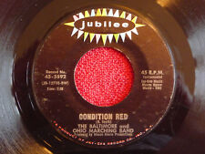 BALTIMORE & OHIO MARCHING BAND Condition Red 45 rpm Jubilee 1967 Mod Soul Instro