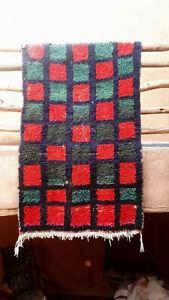 Vintage moroccan boucherouite rag rug  160 x 112 cm