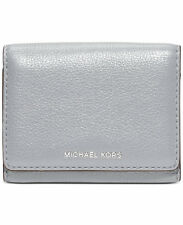 NWT Michael Kors Liane Small Billfold Light Grey -Dove- Leather Wallet $98
