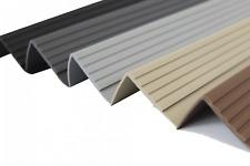 PVC Treppenkantenprofil Winkelprofil Treppenkante Treppen 40x40mm 1,5m RD