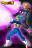 Dragon Ball Super Poster Vegeta and Trunks attack 12inches x18inches