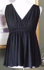BCBG Max Azria Black Jersey Knit Empire Top XXS