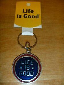 NEW Life Is Good LIG Star Coin Keeper Keyring Key Fab Medallion Patriotic Jake