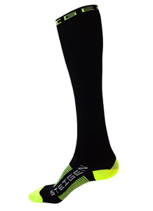 Steigen Black Full Length Performance Running and Cycling Socks