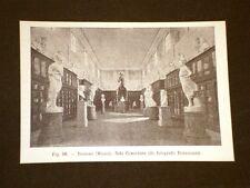 Rara veduta di fine '800 Museo di Bassano - Sala Canoviana o del Canova