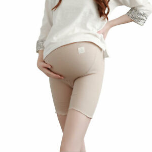 Maternity Solid Color Shorts Pregnant Women Safety Pants Casual Rib Bodyshorts