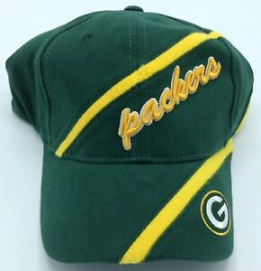 NFL Green Bay Packers Adult Structured Adjustable Fit Curved Brim Cap Hat NEW!