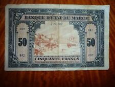 50 Francs Morocco Banknote P# 26 1943