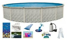 "24' x 52"" Round Above Ground Meadows Swimming Pool w/ Caribbean Liner & Kit Pack"
