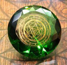 Tachyonen Diamant Merkaba grün 45 Energie Heilige Geometrie Raphael 4. Chakra