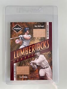 Don Mattingly Lou Gehrig 2003 Leaf Limited Lumberjacks GAME USED BAT RELICS /25