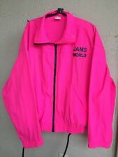 Jams World 90's Nylon Hot Pink Windbreaker Jacket Honolulu Sz Xl