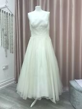 Lulu Bridal Ballerina Length Wedding Dress Size 12-14