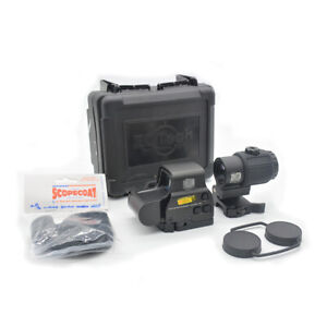 558 Red Dot Sight Holographic Scope + G43 3X Magnifier Magnifier Scope