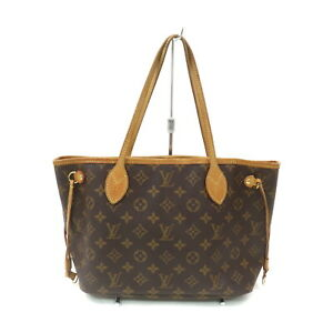 Louis Vuitton LV Tote Bag Neverfull PM M40155 Browns Monogram 1522211