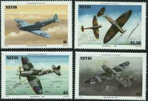 NEVIS - 1986 '50th ANNIVERSARY OF THE SPITFIRE' Set of 4 MNH SG372-75 [A9624]