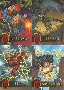 Skybox 1996 DC Outburst: Firepower 4-Card Uncut Promo Card