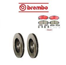 For Acura TSX 04-10 Front Brake Rotors w/ Brake Pads Kit Brembo/Genuine