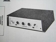 SHERWOOD S-1060 TUBE AMP AMPLIFIER PHOTOFACT