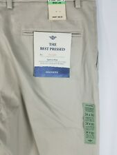 NWT Dockers The Best Pressed Classic Signature Khaki Stretch Pants Chinos 34X30.