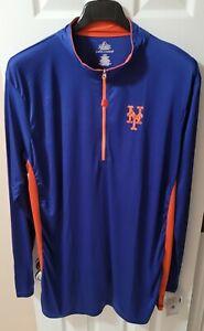 Majestic New York Mets Cool Base Tech Long Sleeve Big & Tall Pullover 4XL XXXXL
