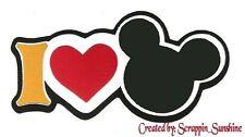 DISNEY - I LOVE MICKEY Die Cut Title - Scrapbook Page Paper Piece - SSFFDeb