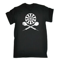 Funny Novelty T-Shirt Mens tee TShirt - Darts Crossbones