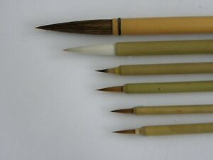 6pc set Chinese paint brushes for Calligraphy watercolour drawing painting WB10