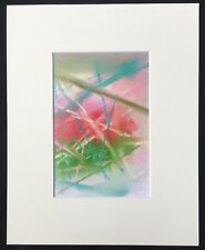 "Twin Flame original abstract mounted art print 10""x8"" G Burgess StIves Cornwall"