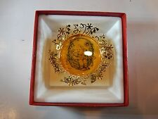 """Hummel Gold Christmas Ornament Collection """"Spring Basket"""" New W/Box"""