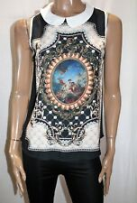 VALLEYGIRL Brand Peter Pan Collar Sleeveless Blouse Top Size 10 BNWT #TO88