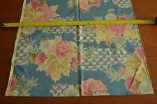 """18"""" Long x 44"""" Wide, Floral on Blue Quality-Cotton, Alexander Henry M4467"""